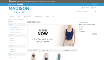 Magento demo website screenshot